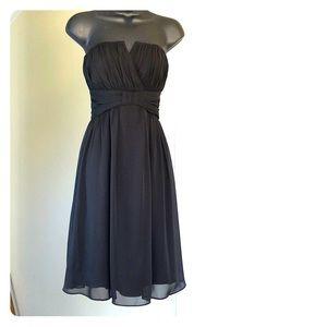 WHBM sz 4 strapless black dress